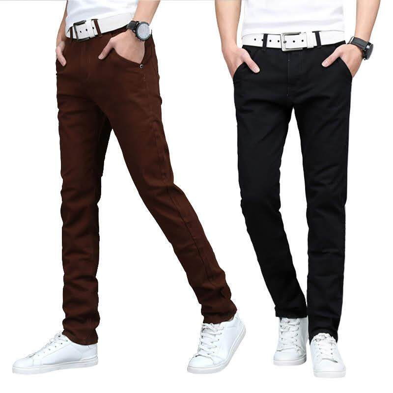 KM Men Cotton Elastic Chinos [M10914]