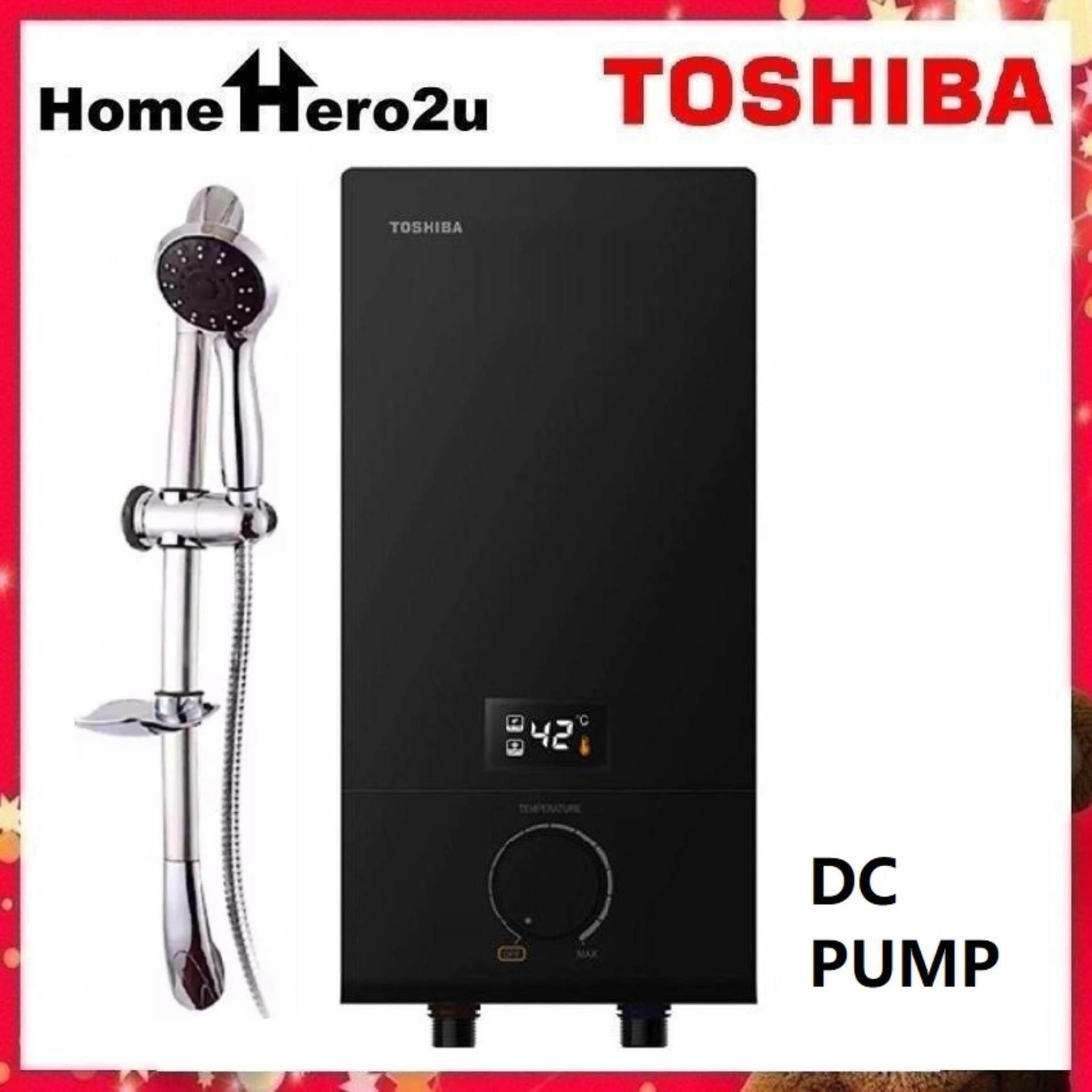 Toshiba DSK38ES3MB Water Heater - Black (with pump) - Homehero2u