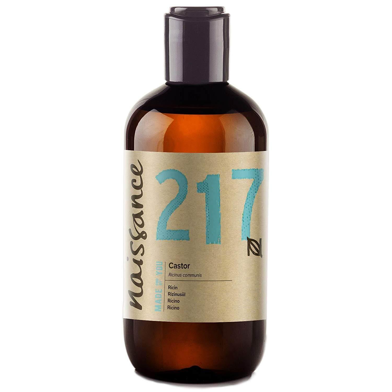 [ iiMONO ] Naissance Cold Pressed Castor Oil (no. 217) 250ml - Pure, Unrefined, Vegan, Hexane Free, No GMO
