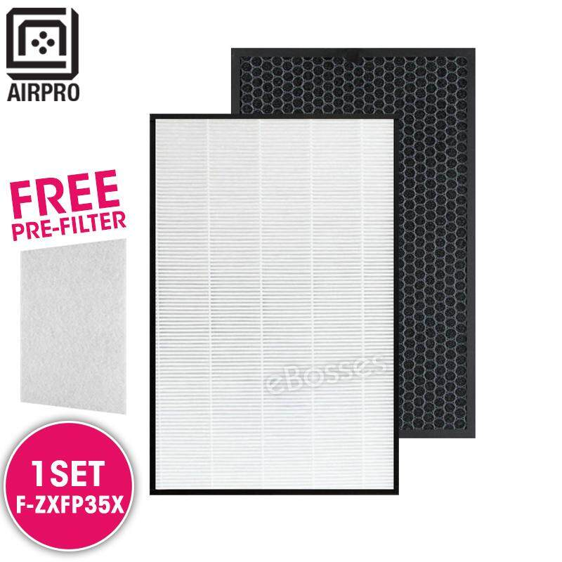 AIRPRO for Panasonic F-ZXFP35X F-ZXFD35X Replacement Air Purifier HEPA Deodorizing Filter for F-PMF35A F-PXF35A F-VXF35A