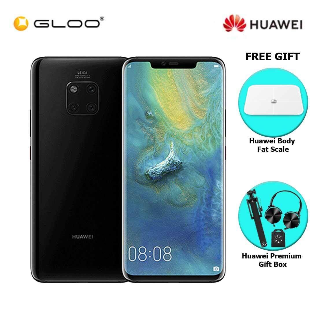 Huawei Mate 20 Pro 6GB+128GB Black + FREE Huawei Body Fat Scale 6901443198375,Premium Gift Box (Headset/Selfie Stick/iRing)