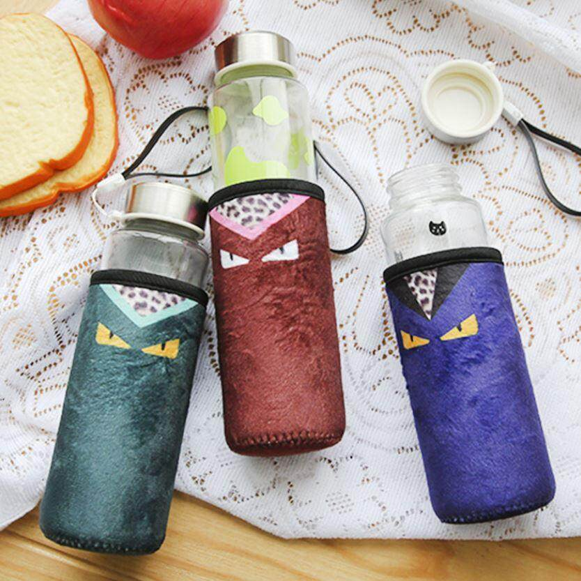330 ml Glass Clown Cloth Cover Water Bottle ACC-046