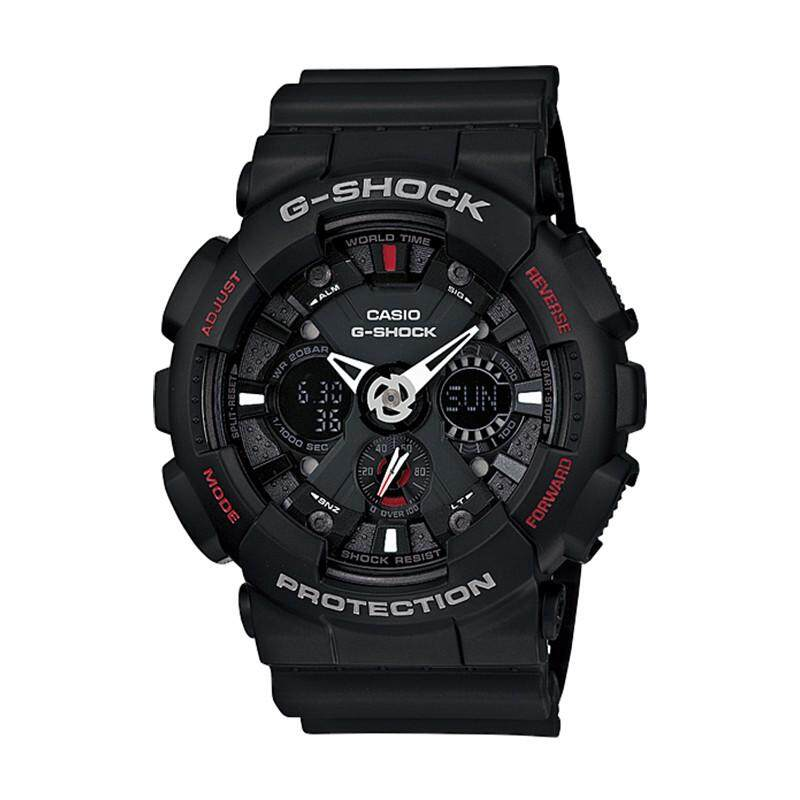 Casio GS GA120-1A Standard Analog Digital Black Resin Watch