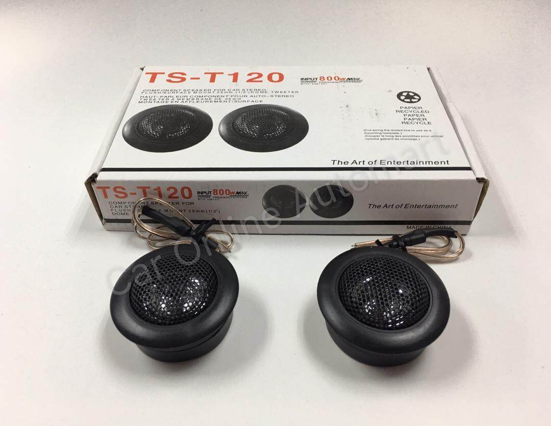 ARTENTERTAINMENT TS-T120 25mm Dome Tweeter for Car Audio System (2 pc) MAXIMUM 200 WATTS , READY STOCK