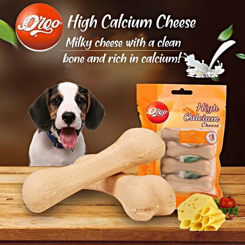 Orgo 100% Pure Nature Cheese [ 3x Pack 90gm ]- High Calcium Tooth-Cleaning Chew
