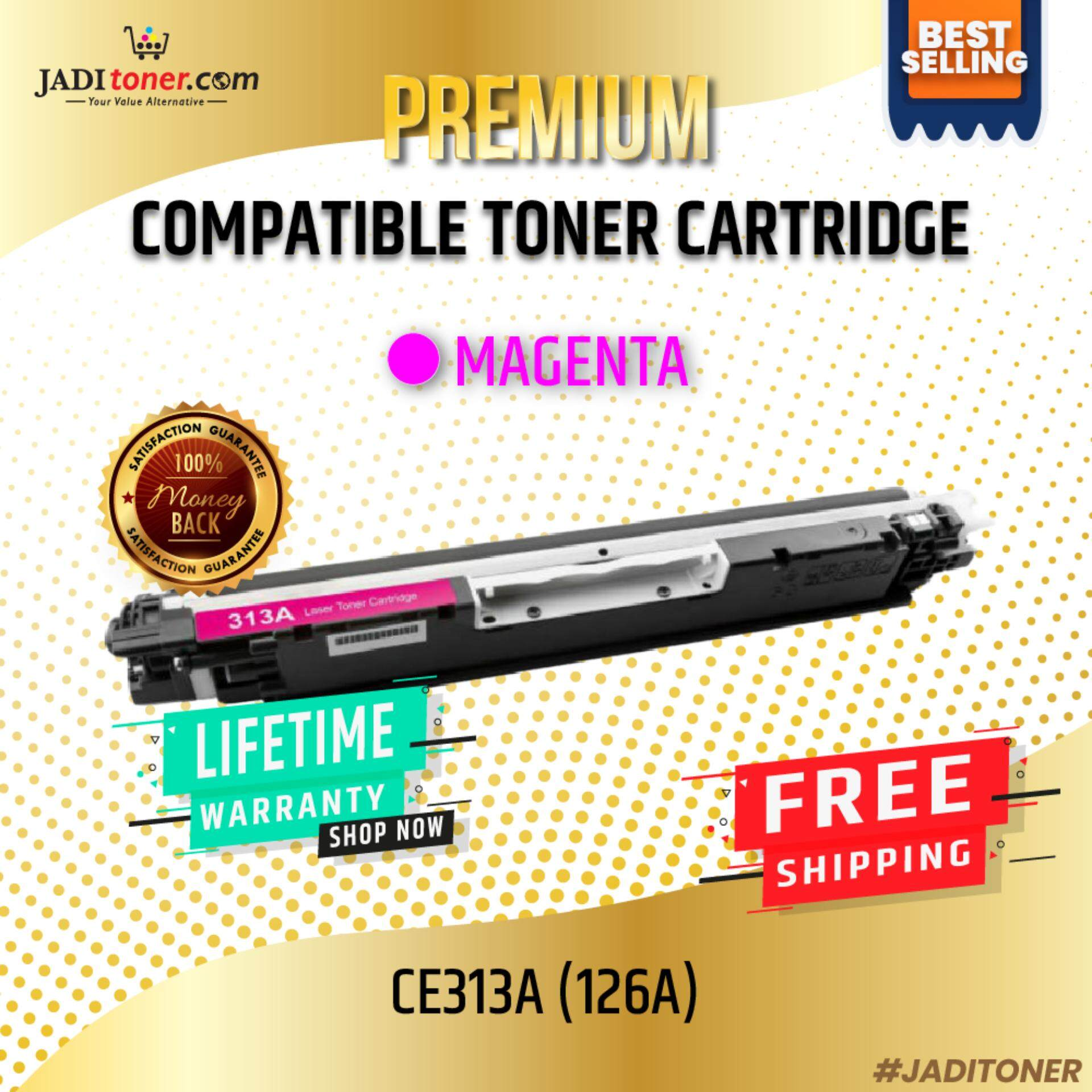 Compatible CE313A CE313 313A 126A Magenta Laser Toner Cartridge For Use In HP Laserjet Pro CP1021 / CP1025 / 200 color MFP M175