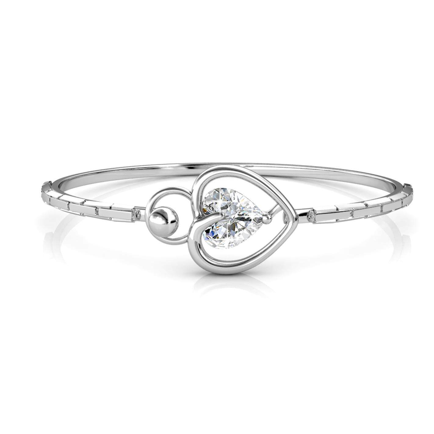 Her Jewellery Lovsie Bangle embellished with Crystals from Swarovski