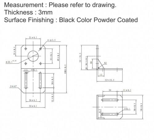 NEMA 17 Reprap CNC/3D Printer Stepper Motor 42 Stepper Motor Mounting Bracket