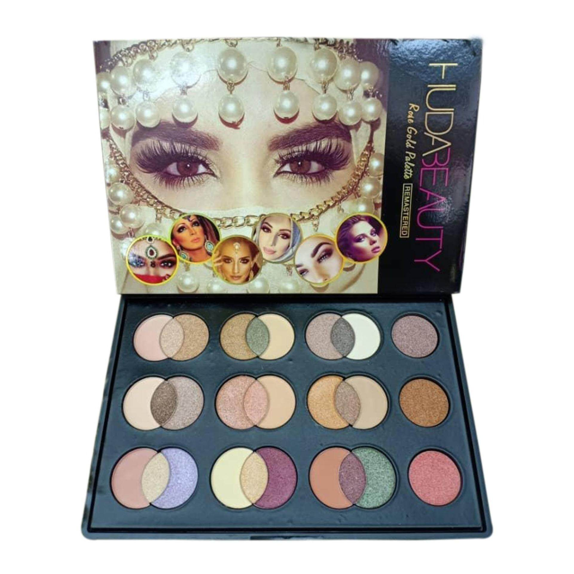 Branded Rose Gold 3 IN 1 Eye Shadow Palette 30 Colors With Free Brush