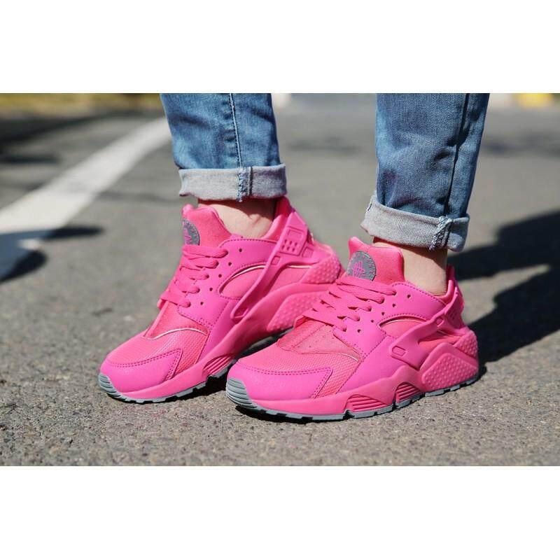 สกลนคร คลังสินค้าพร้อม NIKE Air Huarache 1 รองเท้าสตรีรองเท้าลำลองระบายอากาศได้สีชมพู