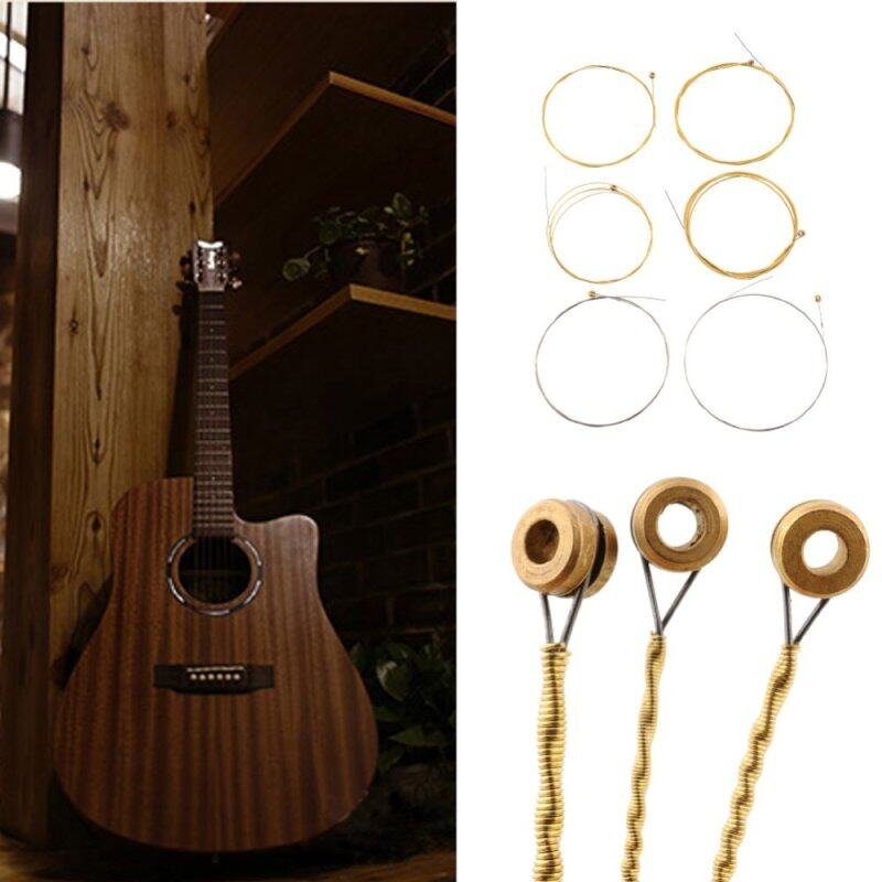 1 Set 6 Steel Strings For Acoustic Guitar 150XL 1M Replacement 0.813MM 1.016MM Malaysia