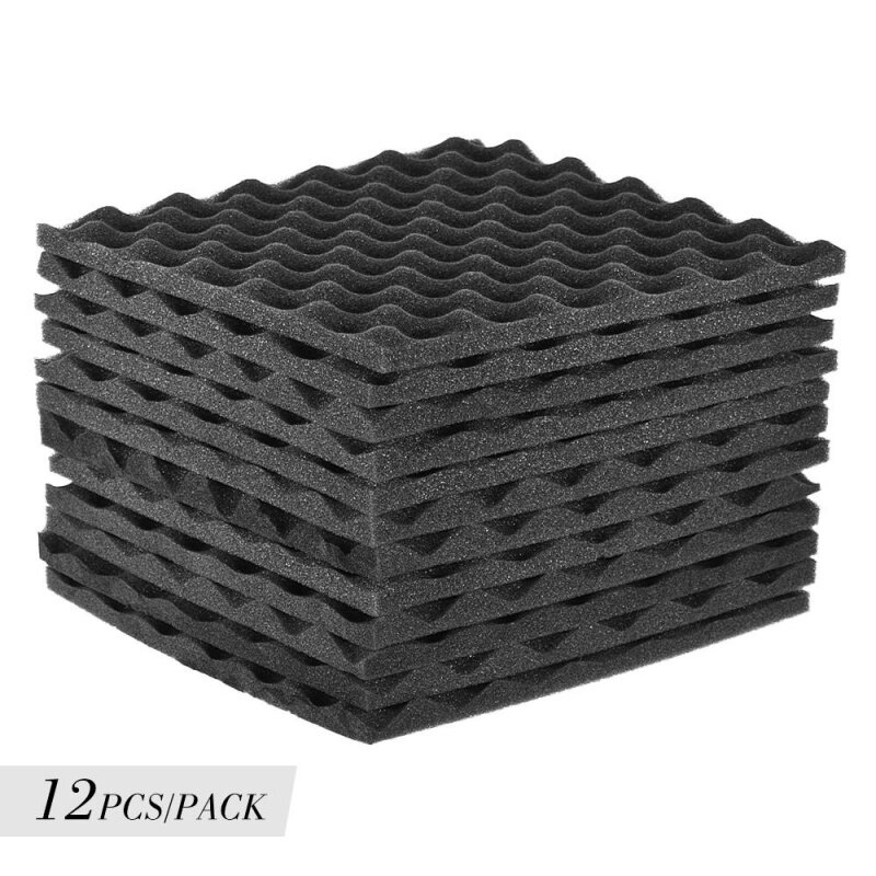 12 Pack Studio Acoustic Foams Panels Sound Insulation Foam 30 * 30cm/ 12 * 12in Malaysia