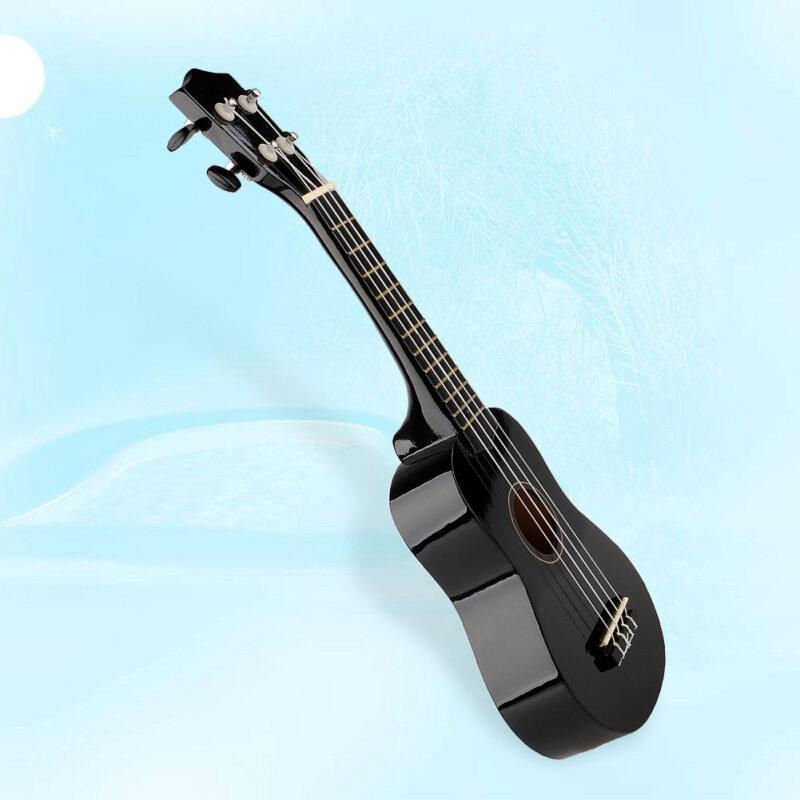 21 Acoustic Soprano Hawaiian Guitar 12 Frets Ukulele Uke Instrument Wood Black Malaysia