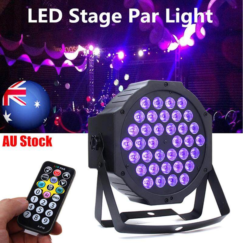 36 LED UV Black Light DMX512 Sound Actived Stage Lighting Disco Club Bar DJ Show EU Plug - intl