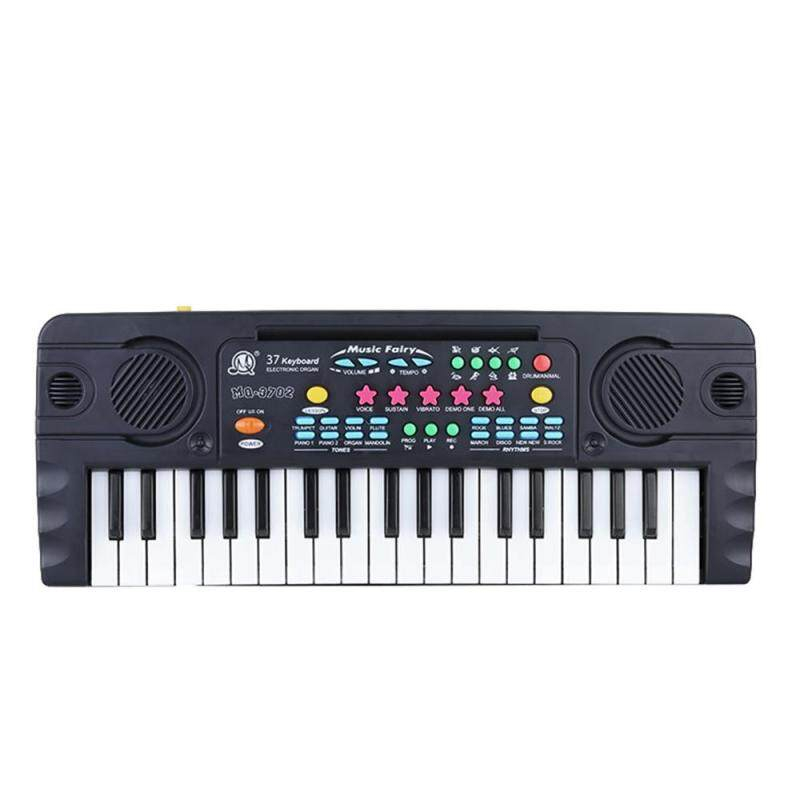 37 phím Mini Đa Năng Bàn Phím Điện Tử Âm Nhạc kèm Míc Giáo Dục Electone Tặng dành cho Trẻ Em Kids Bé Người Mới Bắt Đầu-quốc tế