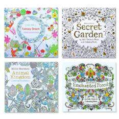 4 Pcs Secret Garden Coloring Graffiti Book For Children Adult Relieve Stress Kill Time Painting Drawing Books2016 New