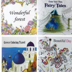 4 UNITS 2016 New Secret Garden An Inky Treasure Hunt And Coloring Book For Children Adult Relieve Stress Kill Time Graffiti Painting Drawing