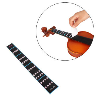Harga 4/4 Violin Fiddle Finger Guide Fingerboard Sticker Label IntonationChart Fretboard Marker for Practice Beginners
