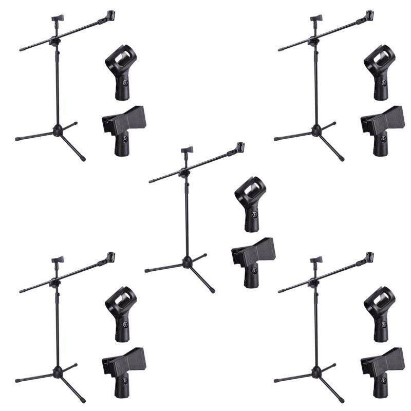 [5 in 1] Taloha High Quality Microphone Mic Stage Stand (adjustable) with Two holder clips Malaysia