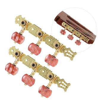 Alice AO-020V2P 2pcs(L&R) Gold-Plated Acoustic Classical Guitar3+3 Machine Heads (Long) Tuning Keys Pegs String Tuners Outdoorfree