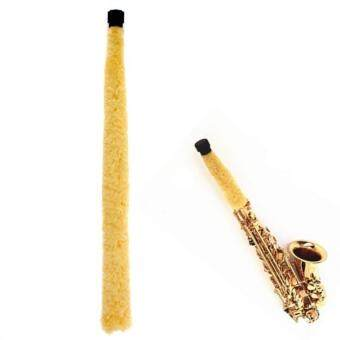 Yellow Alto Saxophone Cleaner Soft Fiber Brush Pad Saver