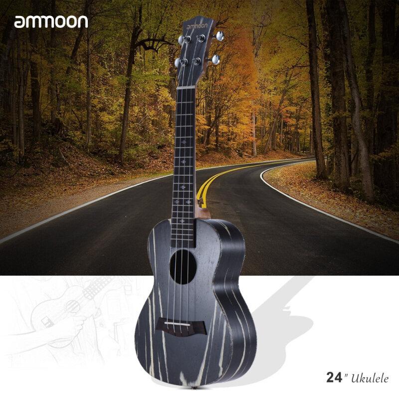 ammoon 24 Wooden Acoustic Soprano Ukulele Ukelele Uke18 Frets 4 Strings Okoume Neck Rosewood Fretboard String Instrument Musical Gift Malaysia