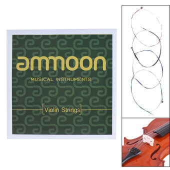 ammoon Full Set High Quality Violin Strings Size 4/4 & 3/4Violin Strings Steel Strings G D A and E Strings