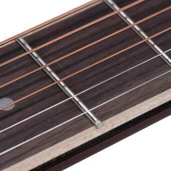 ammoon Portable Pocket Acoustic Guitar Practice Tool Gadget Chord Trainer 6 String 6 Fret Model Rosewood Fretboard Wood Grain for Beginner Learner