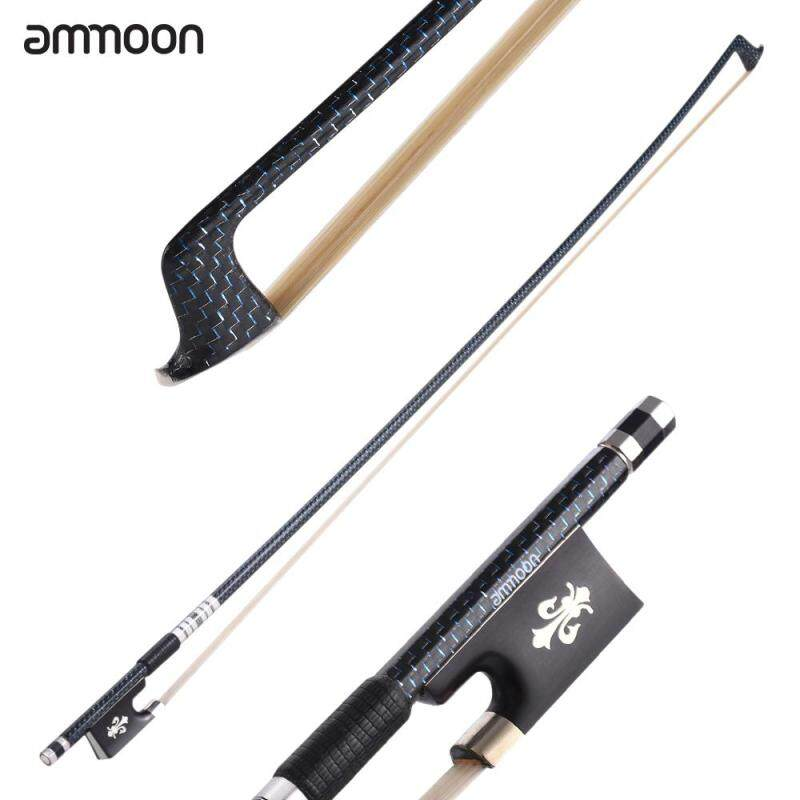 ammoon Well Balanced 4/4 Violin Fiddle Bow Braided Carbon Fiber Round Stick Exquisite Horsehair Ebony Frog Malaysia