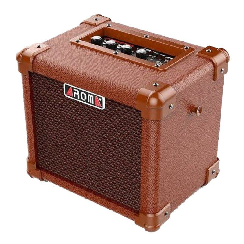 Aroma AG-10 AM Acoustic Amplifier for Guitar, Ukulele and Vocal mic 10W (Rechargeable & Portable) Malaysia