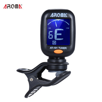 Harga AROMA AT-101 Portable Mini Clip-on Digital Tuner with FoldableRotating Clip High Sensitivity for Chromatic Guitar Bass ViolinUkulele