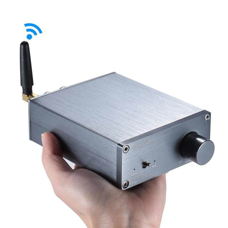 Bluetooth 4.0 Mini HiFi 2.0 Stereo Digital Audio Power Amplifier Amp Dual Channel Output 50W *2 Aluminum Alloy 10m Transmission Range with Power Adapter ^ Malaysia