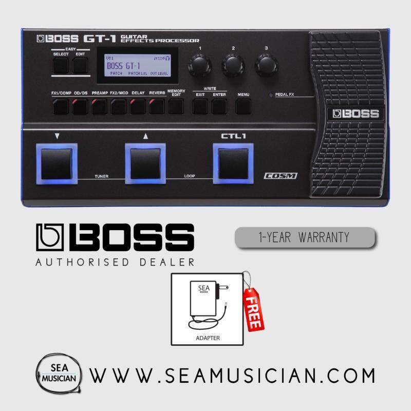 BOSS GT 1 GUITAR MULTI EFFECTS PROCESSOR WITH ADAPTER (GT-1/GT1) Malaysia