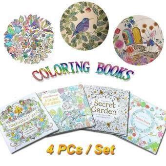 Children Adult Coloring Books Painting Secret Garden An InkyTreasure Hunt