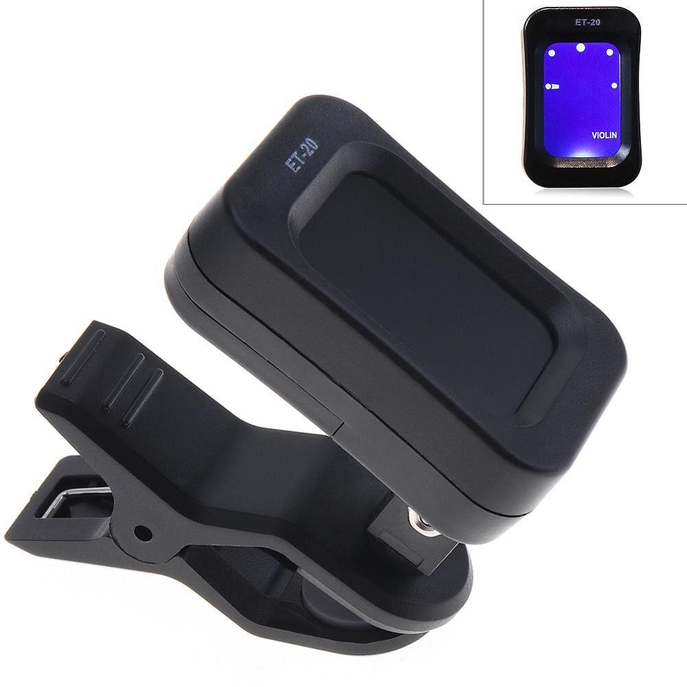 Clip On Guitar Tuner Universal LCD Display Digital Tuner for Chromatic Guitar / Bass / Ukulele