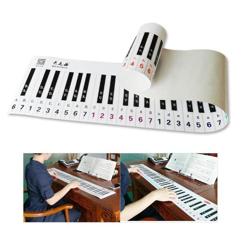 Controlled Version 88 Key Keyboard Piano Finger Simulation Practice Guide Teaching Aid Note Chart for Beginner Student Malaysia