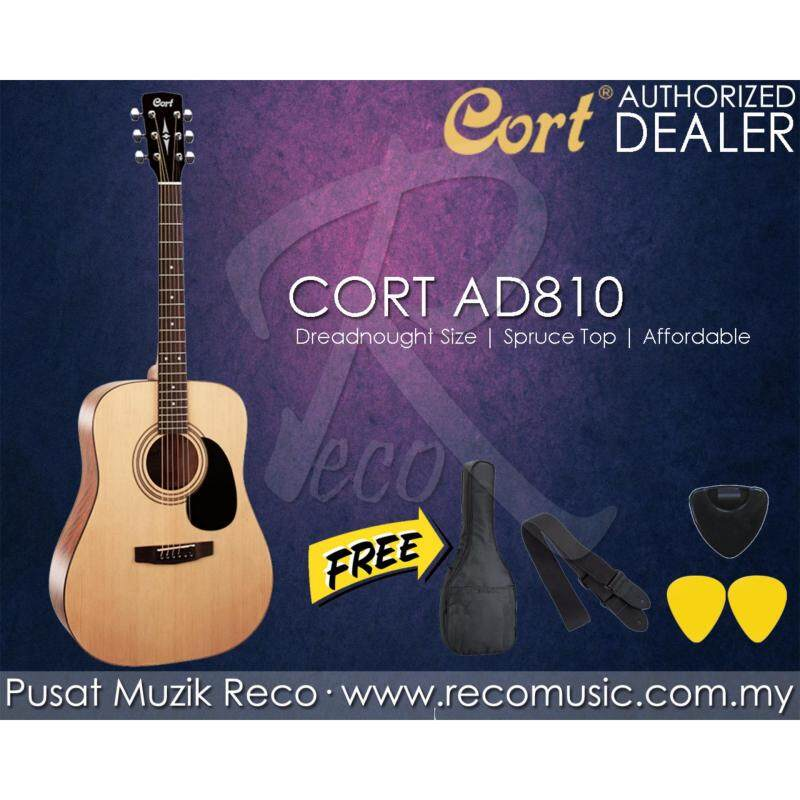 Cort AD810 NS Dreadnought Acoustic Guitar with Free Gifts Malaysia