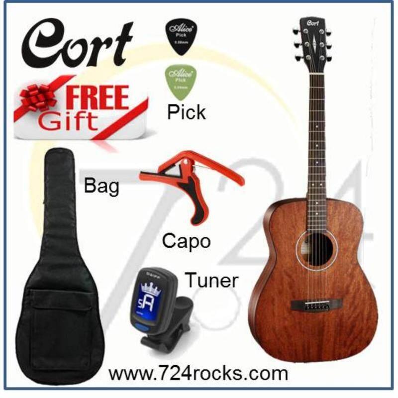 Cort Korea AF510 Mahogany Concert Shape Acoustic Guitar Free Bag, Capo & Picks Malaysia