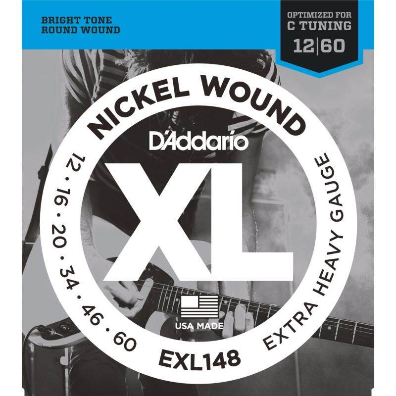 DAddario EXL148 Extra Heavy XL Nickel Wound Electric Guitar Strings Package (6-String Set, 12 - 60) Malaysia