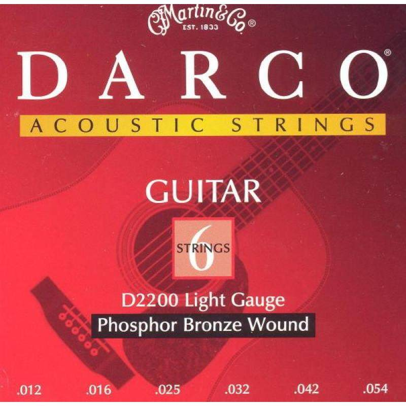 Darco D2200 Acoustic Guitar Strings Phosphor Bronze Aco,012-054 Malaysia