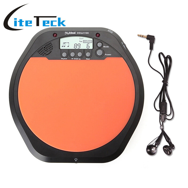 Digital Electric Electronic Drum Pad for Training Practice Metronome with Retail Package - intl