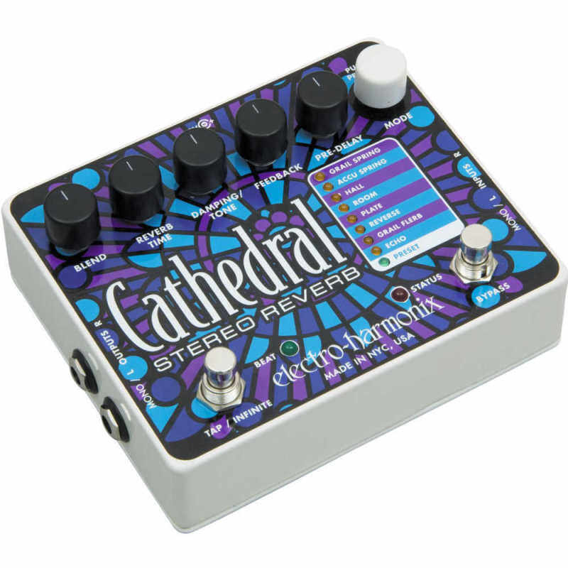 Electro-Harmonix Cathedral Stereo Reverb Guitar Effects Pedal Malaysia