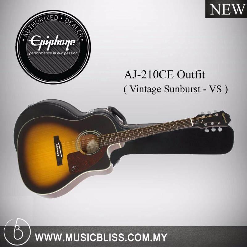 Epiphone AJ-210CE Outfit Acoustic Guitar w/ Free Hardcase (Vintage Sunburst) Malaysia