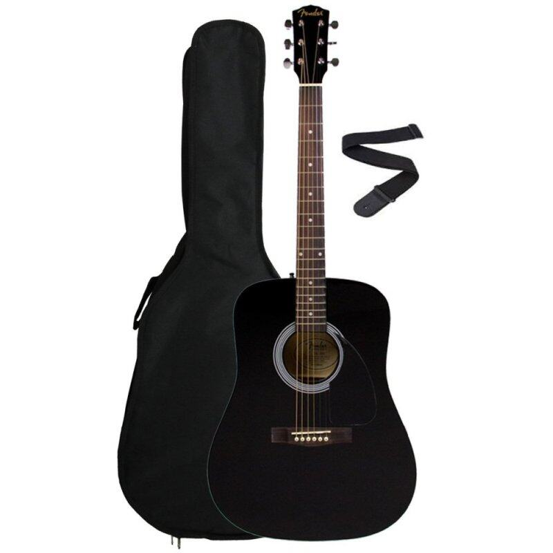 FENDER FA-100 BLACK - ACOUSTIC GUITAR WITH BAG Malaysia