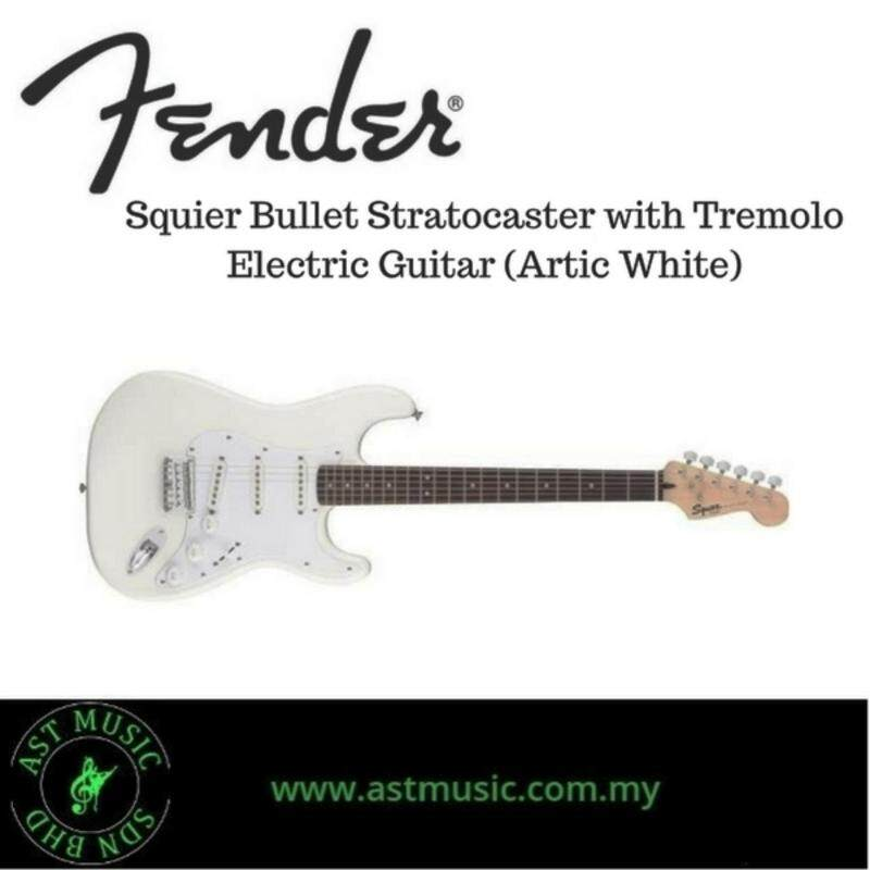 Fender Squier Bullet Stratocaster with tremolo (Artic White) Malaysia