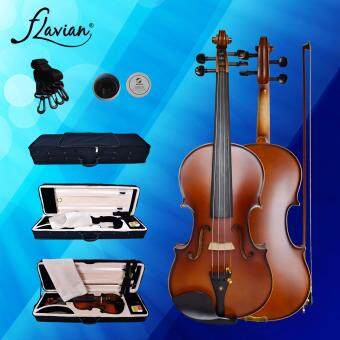 Flavian K-3 Violin 4/4 (Full Size) Premium Matte Surface withPremium Oblong Hardcase+Hygrometer+Violin Blanket+Bow+Rosin
