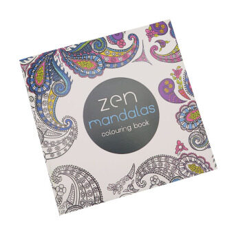 Detail Gambar Produk Hanyu Secret Garden Zen Mandala Coloring Book For Children AdultRelieve Stress Kill Time Graffiti Painting Drawing 12 Sheetsof