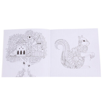 HengSong Secret Garden An Inky Treasure Hunt And Coloring BookEnchanted Forest 24 Pages English