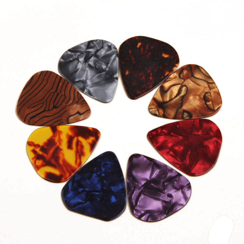 Hequ Multicolor Celluloid Acoustic Electric Guitar Picks Plectrums S 0.46mm Color Random Malaysia