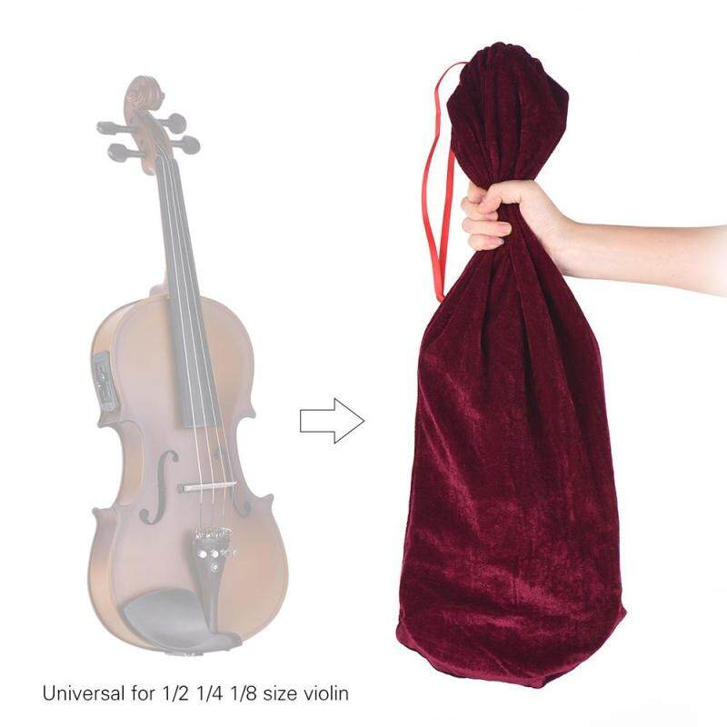 High Quality Satin Fabric Bag Blanket for 1/2 1/4 1/8 Size Violin Fiddle Elegant Burgundy Malaysia